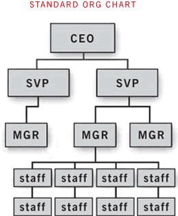 A typical corporation's org chart model
